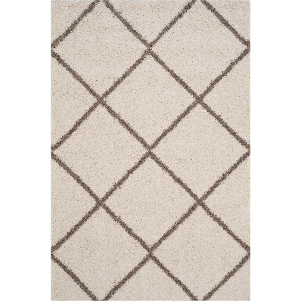 6'X9' Geometric Loomed Area Rug Ivory/Beige - Safavieh