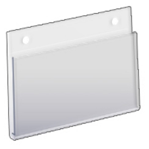 "Azar® 5"" x 3.5"" Wall U-Frame Acrylic Sign Holder 10ct - image 1 of 1"