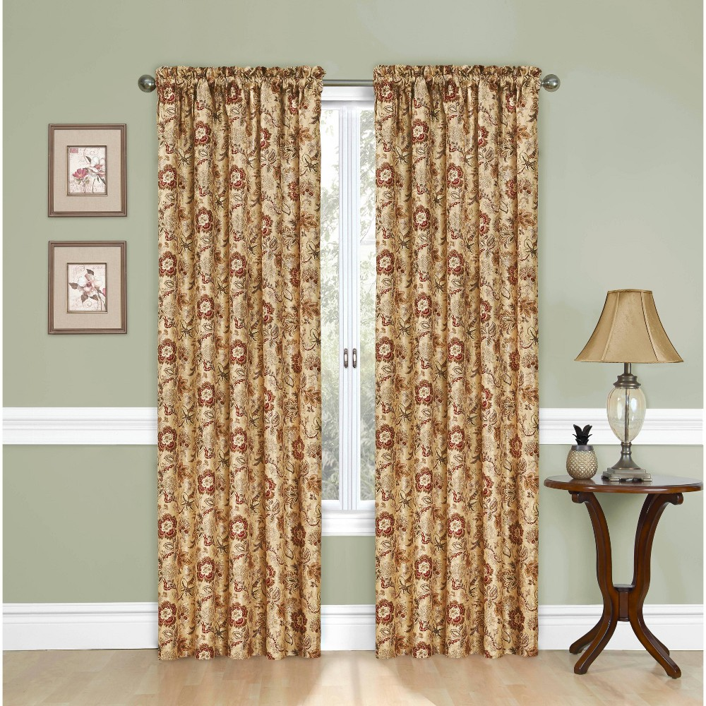 "Image of ""84""""x52"""" Window Curtain Panel Tan - Traditions by Waverly"""