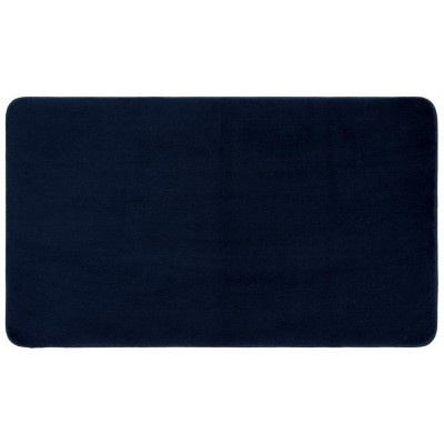 "20""x34"" Velveteen Memory Foam Bath Rug Dark Blue - Room Essentials™"