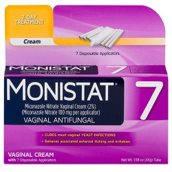 Monistat 7-Day Yeast Infection Treatment, Cream with Reusable Applicator, Fast Symptom Relief