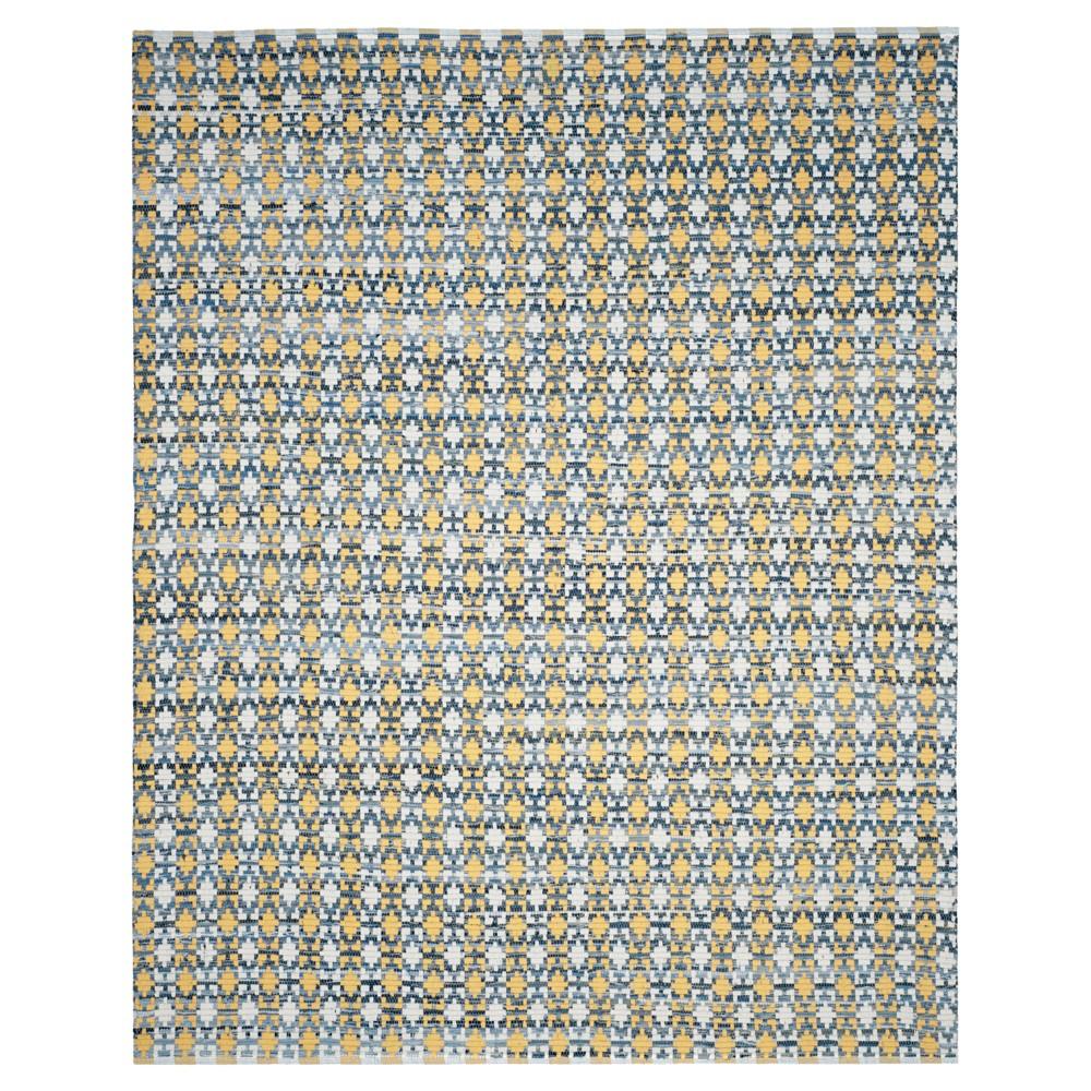 Shapes Flatweave Woven Area Rug 9'X12' - Safavieh, Gold/Multicolor