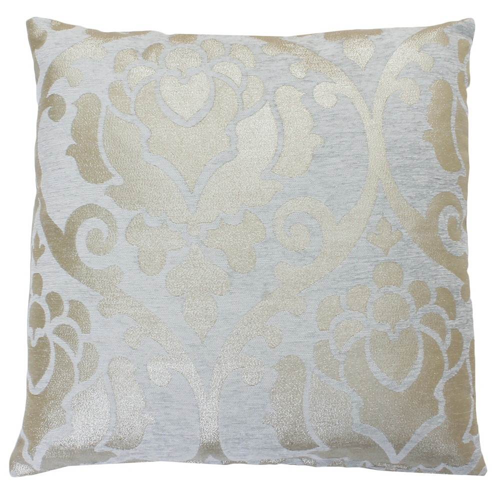 Image of 2pk Grace Oversize Square Throw Pillow Silver - Decor Therapy
