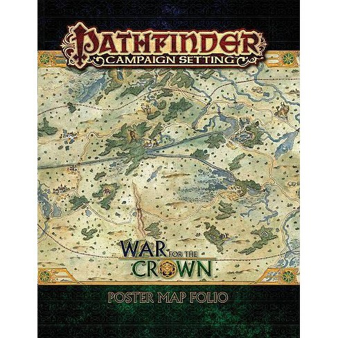 Pathfinder Campaign Setting: War for the Crown Poster Map Folio - (Paperback) - image 1 of 1