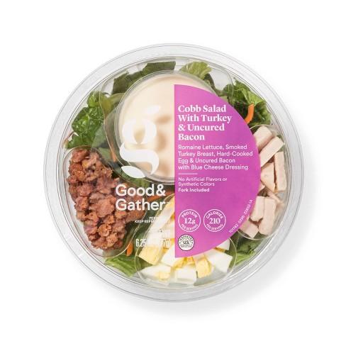 Cobb Salad with Turkey & Uncured Bacon Bowl - 6.25oz - Good & Gather™ - image 1 of 3