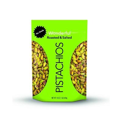 Wonderful No Shells Roasted Salted Pistachios - 16oz