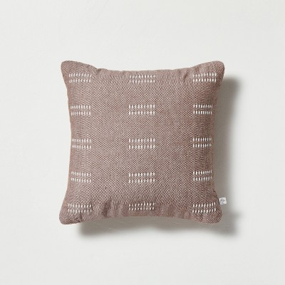"""14"""" x 14"""" Dash Stripe Throw Pillow Pumpkin Brown - Hearth & Hand™ with Magnolia"""