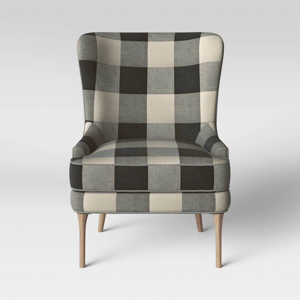 Cheswold Wingback Chair Black White Threshold 8482