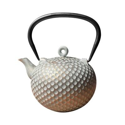 "Frieling ""Dim"", Cast Iron Teapot, 34 fl. oz., Mint/Gold"