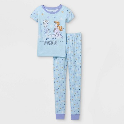 Girls' Frozen You Are Magical 2pc Pajama Set - Blue - Disney Store