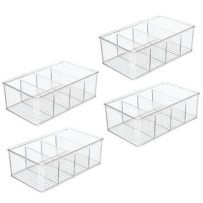 mDesign Plastic Kitchen Pantry Food Storage Organizer Bin, 4 Pack