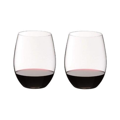 Riedel O Wine Tumbler Stemless Cabernet or Merlot Dishwasher Safe Wine Glassware, Set of 2, Clear - image 1 of 4