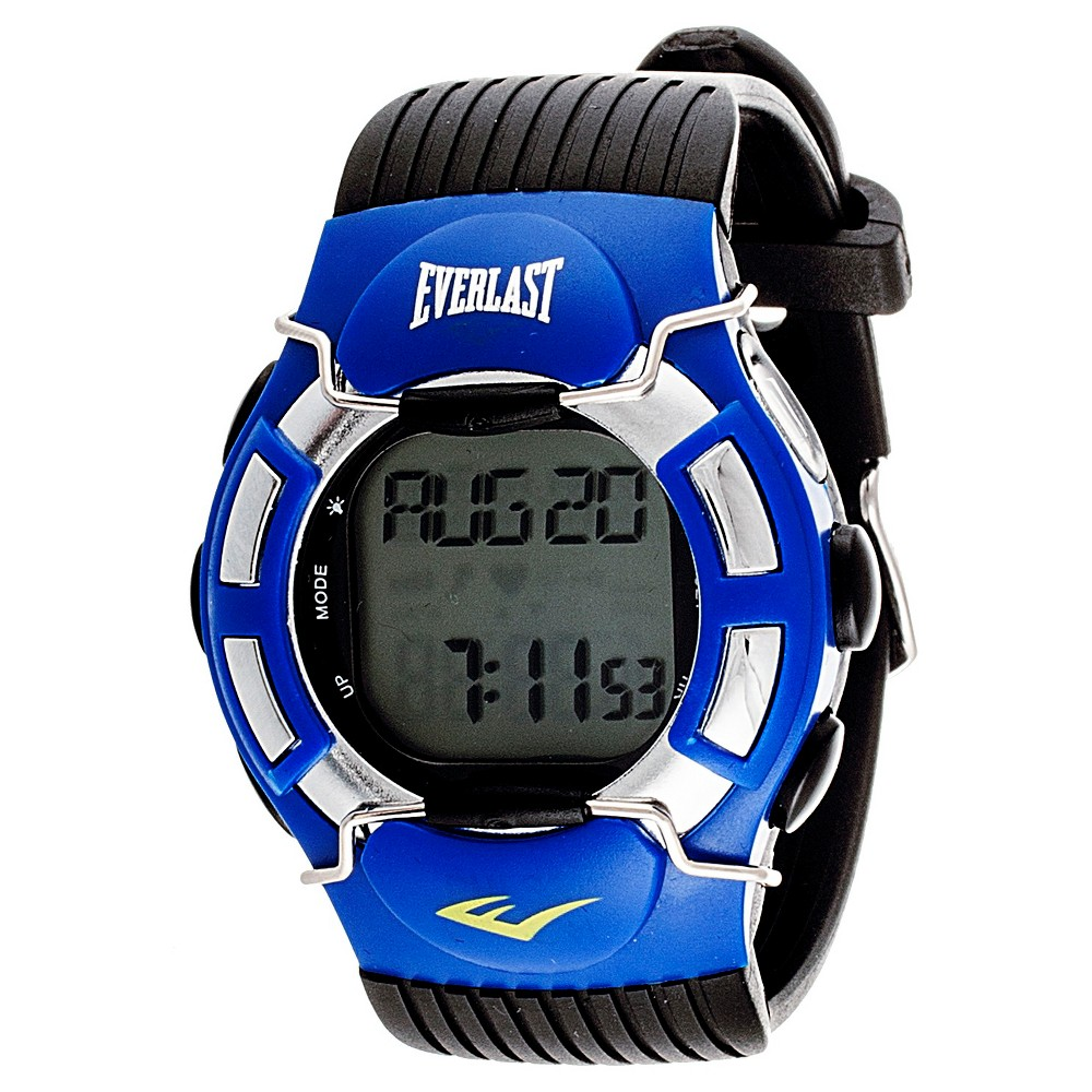 Image of Men's Everlast Finger Touch Heart Rate Monitor Watch Blue, Men's, Size: Small