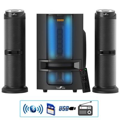 beFree Sound Bluetooth 2.1 Channel Multimedia Wired Speaker Shelf System