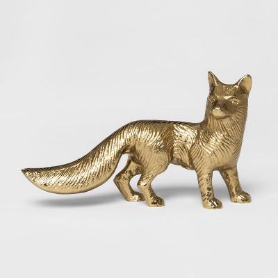 Decorative Fox Figurine - Gold - Threshold™