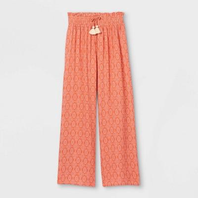 Girls' Smocked Waist Wide Leg Pants - art class™