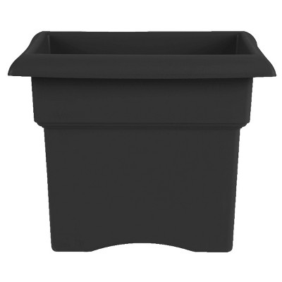 "18"" Square Veranda Deck Box Planter - Black - Bloem"