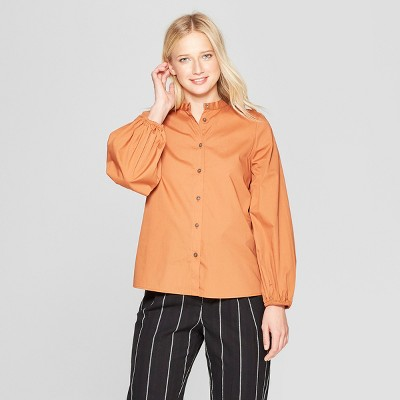 540d8bc8f2ade Women s Long Sleeve Button-Up Blouse - Who What Wear™