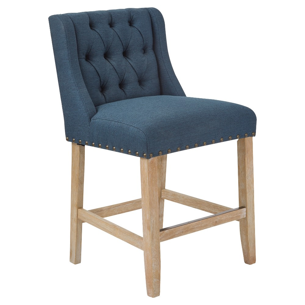 "Image of ""25.75"""" Kate Counter Stool Azure - OSP Home Furnishings, Blue"""