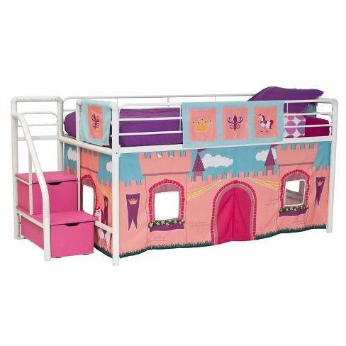 Pink /& Purple Kids Curtain Set DHP Star Loft Bed Pink