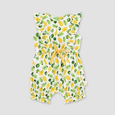 Burt's Bees Baby® Baby Girls' Organic Cotton Lemon and Lime Bubble Romper - White 18M