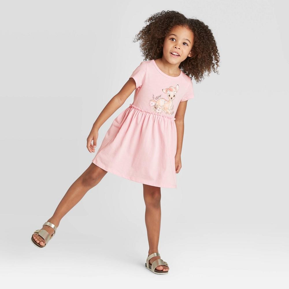 Image of petiteToddler Girls' Short Sleeve Disney Bambi Dress - Heather Pink 12M, Girl's