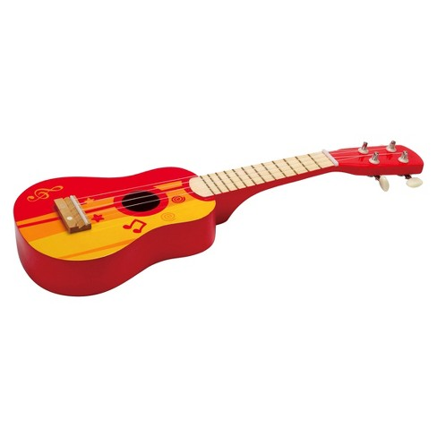 Hape Ukulele Wooden Instrument Red