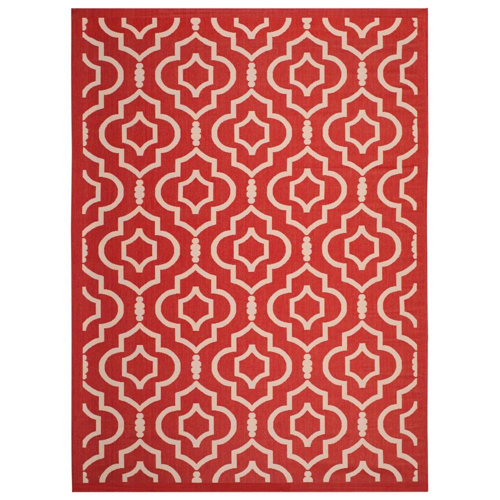 Davos Rug 9'X12' - Red/Bone (Red/Ivory) - Safavieh