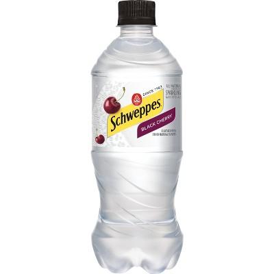 Schweppes Black Cherry Sparkling Water Beverage - 20 fl oz Bottle
