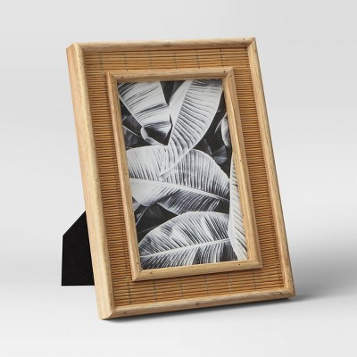 "4"" x 6"" Wide Woven Single Picture Frame Brown - Opalhouse™"