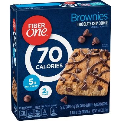 Fiber One Chocolate Chip Cookie Brownies - 6ct