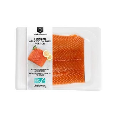 Marine Harvest Plain Salmon Portion - Frozen - 16oz