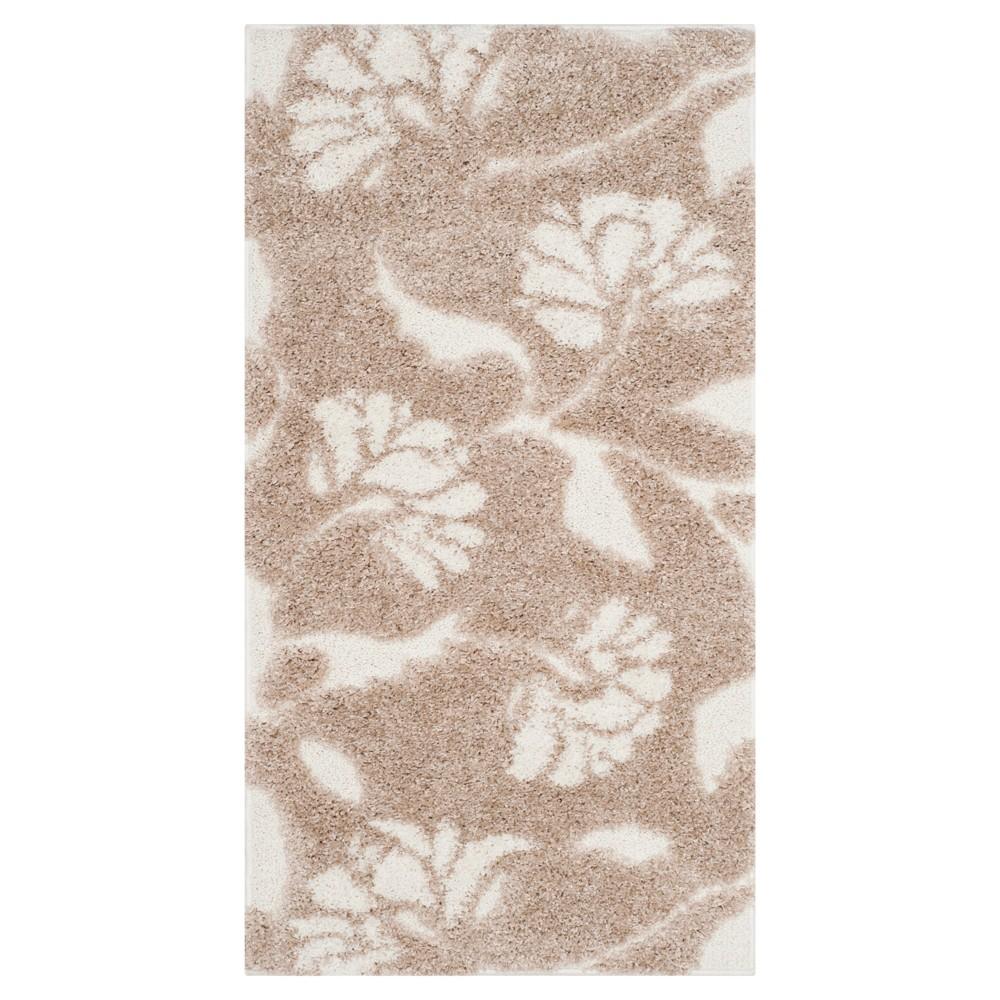 Beige/Cream (Beige/Ivory) Botanical Loomed Accent Rug - (2'3X4') - Safavieh