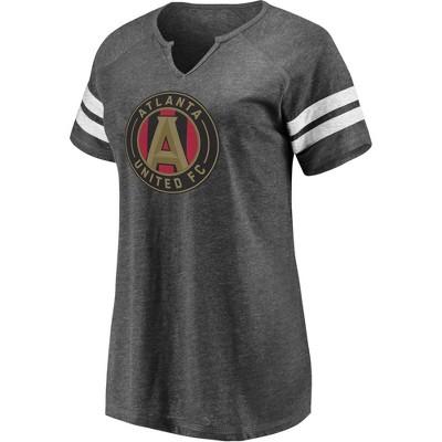 MLS Atlanta United FC Women's Short Sleeve Split Neck T-Shirt