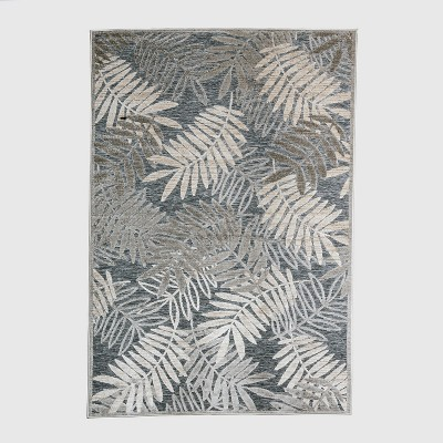 7' x 10' Reductive Palm Outdoor Rug Gray - Project 62™
