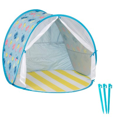 Babymoov Kid's UV Resistant Portable Pop-Up Sun Shelter Play Tent with Convenient Carry Bag for Babies to Young Kids, Blue