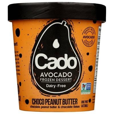 Cado Non-Dairy Avocado Frozen Dessert Chocolate Peanut Butter - 1pt