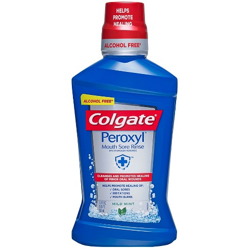 Colgate Peroxyl Mouth Sore Rinse Mild Mint - 16.9 fl oz - image 1 of 3