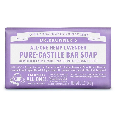 Dr. Bronner's Bar Soap - Lavender - 5oz - image 1 of 4