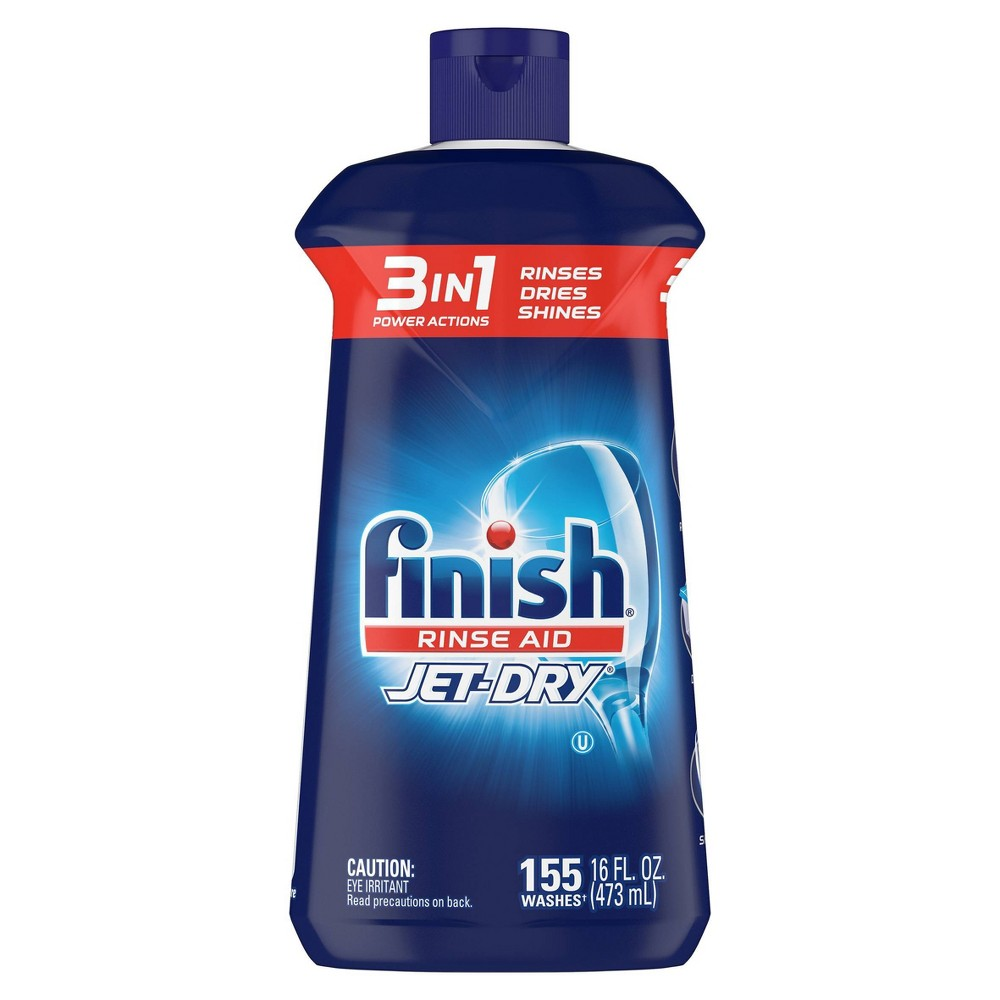 Finish Jet Dry Rinse Aid Dishwasher Rinse 38 Drying Agent 16 Fl Oz