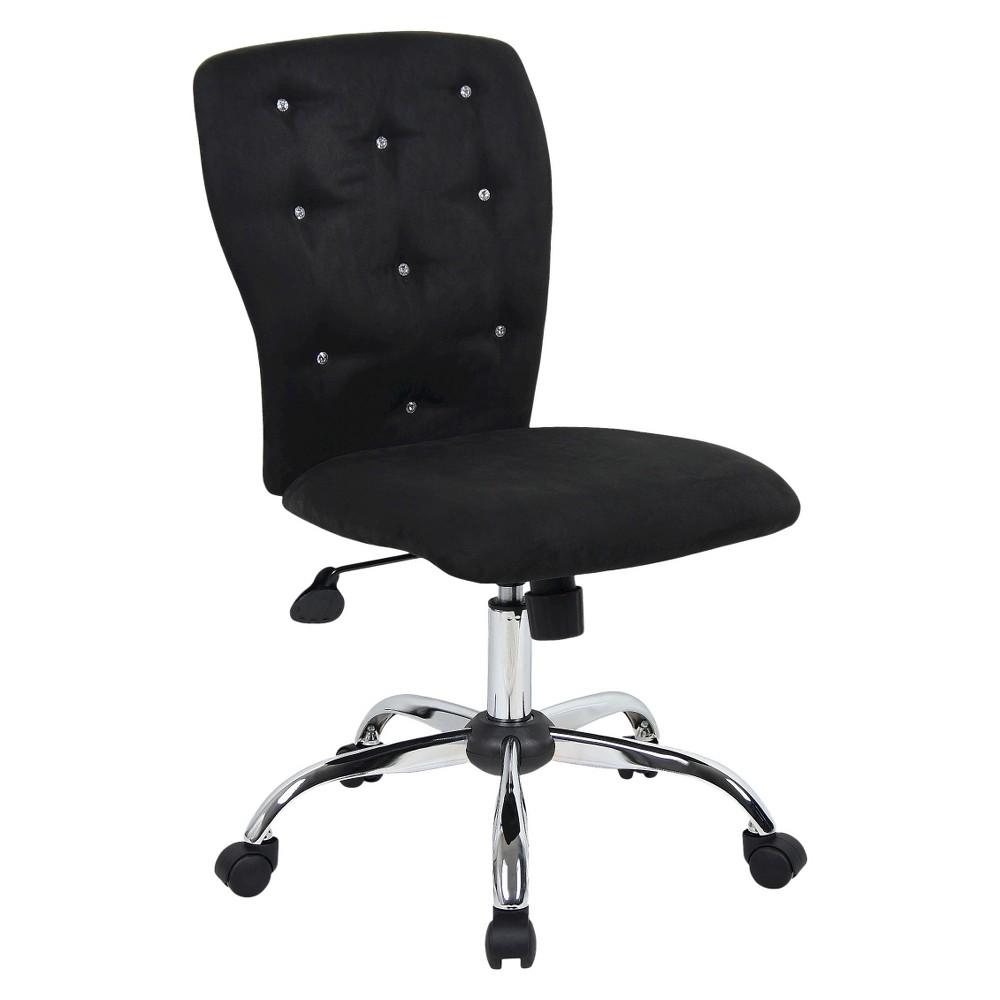 Microfiber Task Chair With Tufting Black