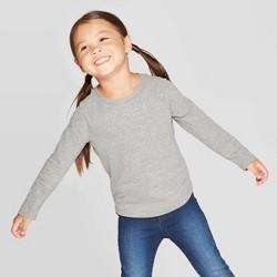 Toddler Girls' Long Sleeve Sparkle T-Shirt - Cat & Jack™ Gray