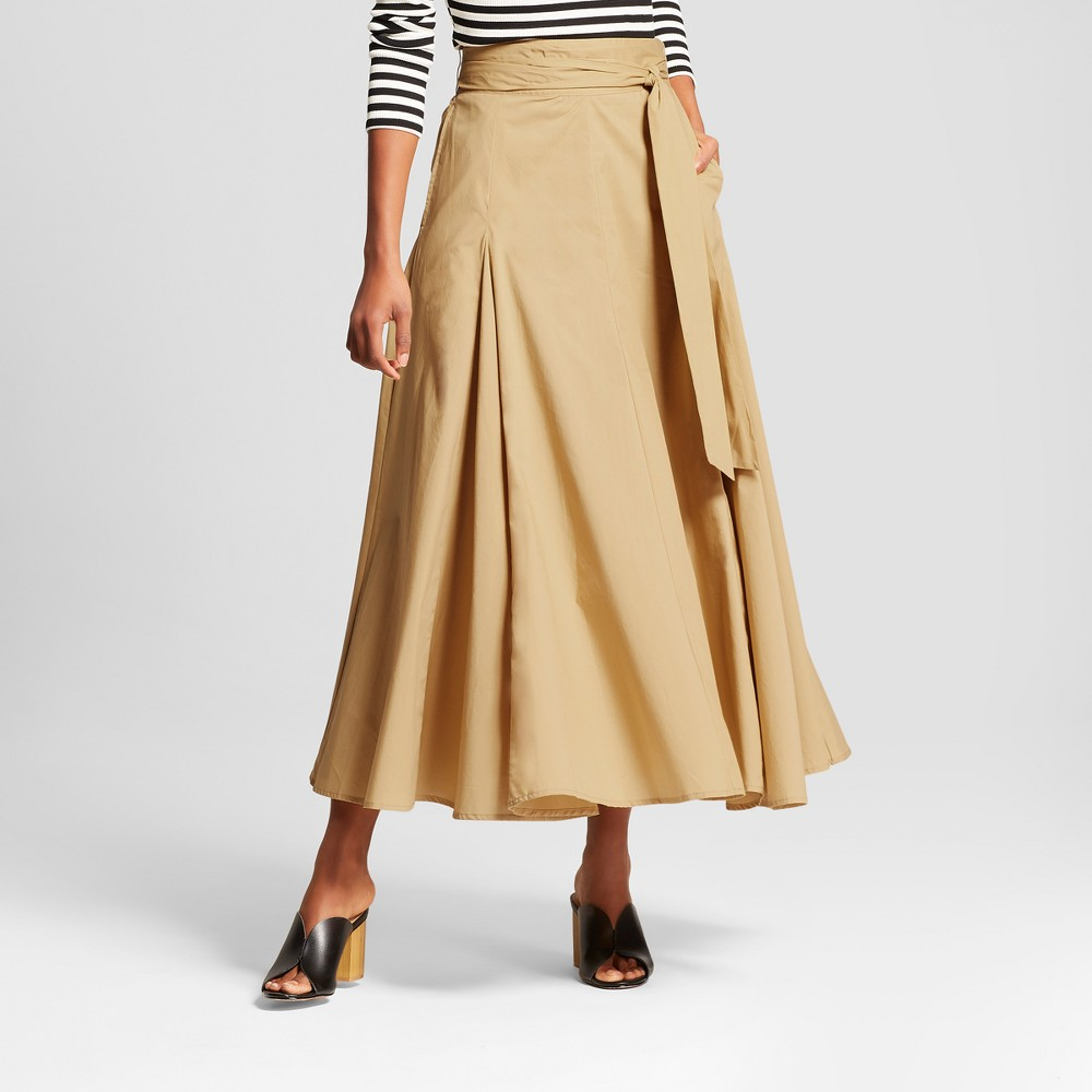 Women's Belted Midi Skirt - Who What Wear Tan 12