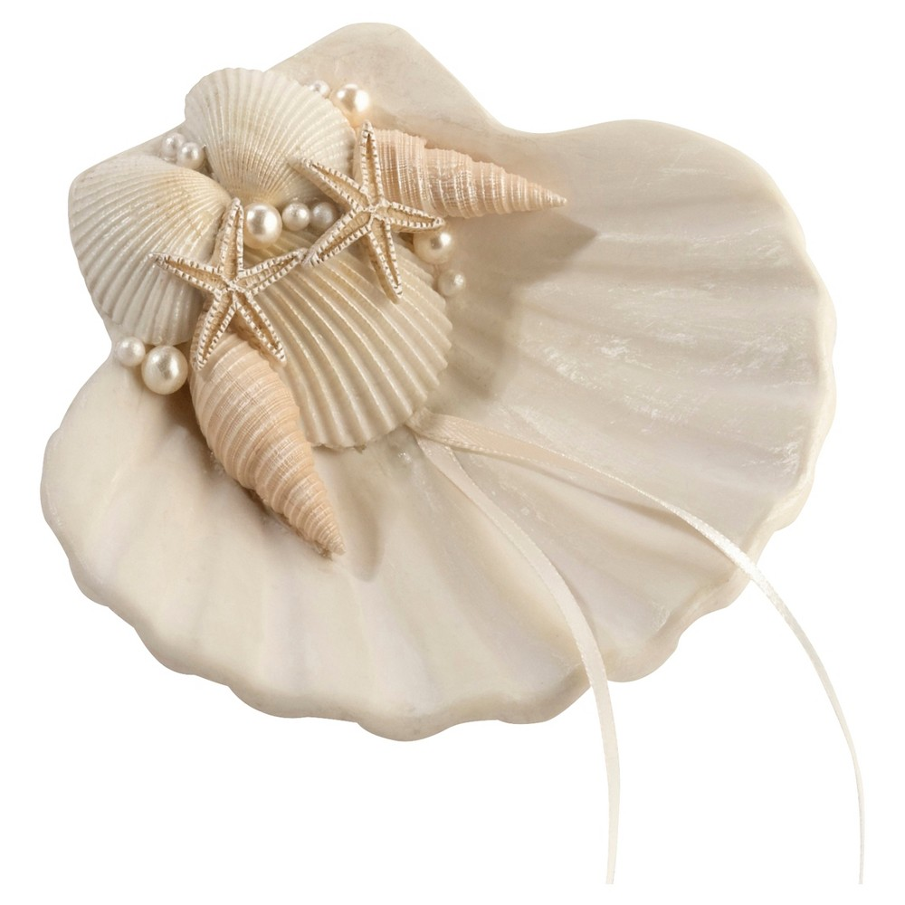 Ivory Seashell Ring Holder