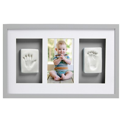 Pearhead Babyprints Deluxe Wall Frame - Gray