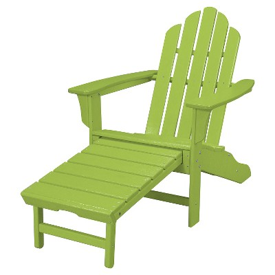 Exceptionnel Outdoor All Weather Adirondack Chair With Attached Ottoman   Aruba    Hanover : Target