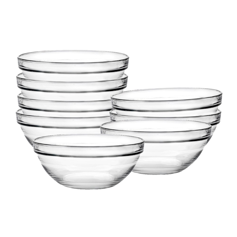 Image of Duralex Chefs 8 pc Glass Condiment Bowl Set - Clear