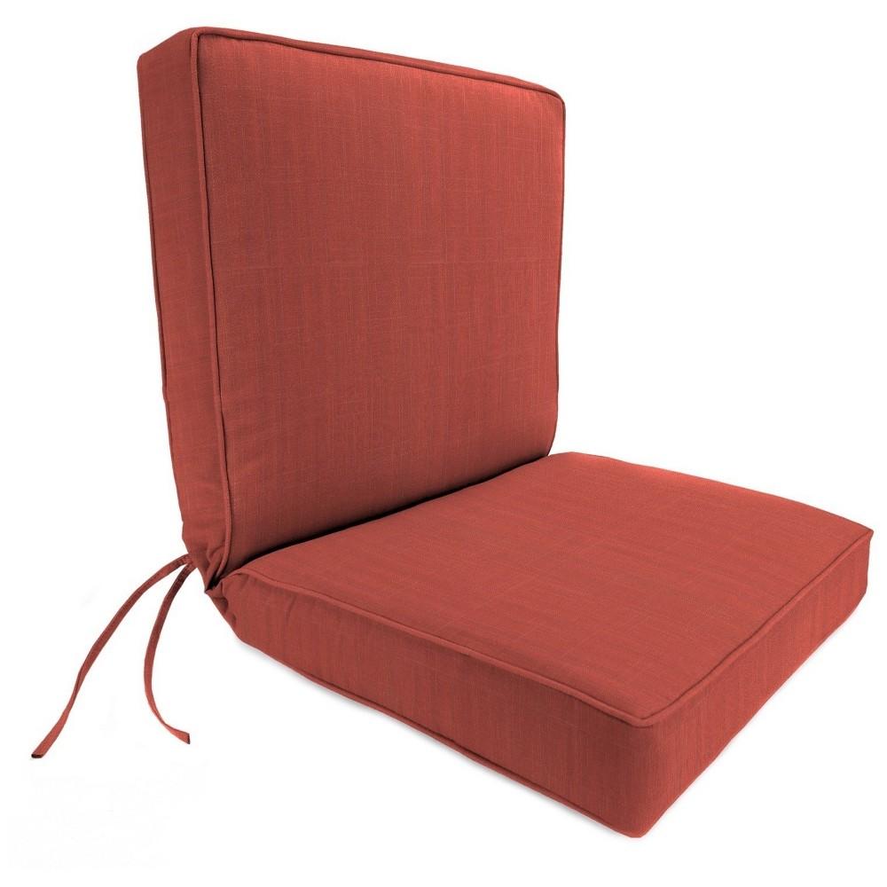 Jordan Boxed Edge Dining Chair Cushion - Davinci Salmon