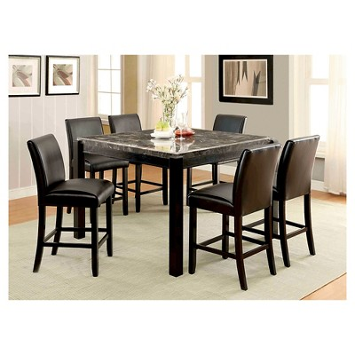 IoHomes Bailey II Marble Top Counter Height Dining Table - Black  Target  sc 1 st  Target & IoHomes Bailey II Marble Top Counter Height Dining Table - Black ...