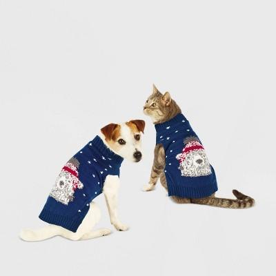 Polar Bear Dog and Cat Sweater - Blue - Wondershop™